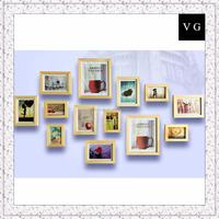 Eco-friendly Latest 12 pieces Wooden Picture Photo Frames on Table/Wall