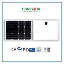12V 25W Mono Solar Panel, High efficiency with A-grade high quality monocrystalline cells