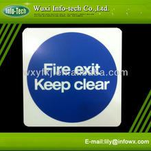 self luminous fire safety exit signs