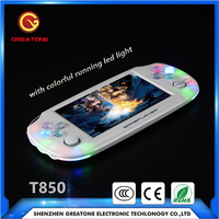 original factory wholesale cheap handheld game mp4 player with classic game console 4.3inch built-in 8GB memory