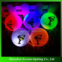 Assorted Color Novelty LED Golf Balls With Customized Logo