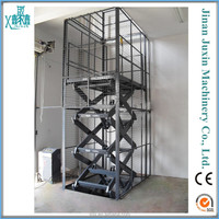 9m stationary scissor lift /car hoist/ warehouse cargo lift
