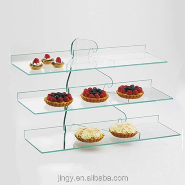 China plexiglass display 3 tiers acrylic fruit cake stand