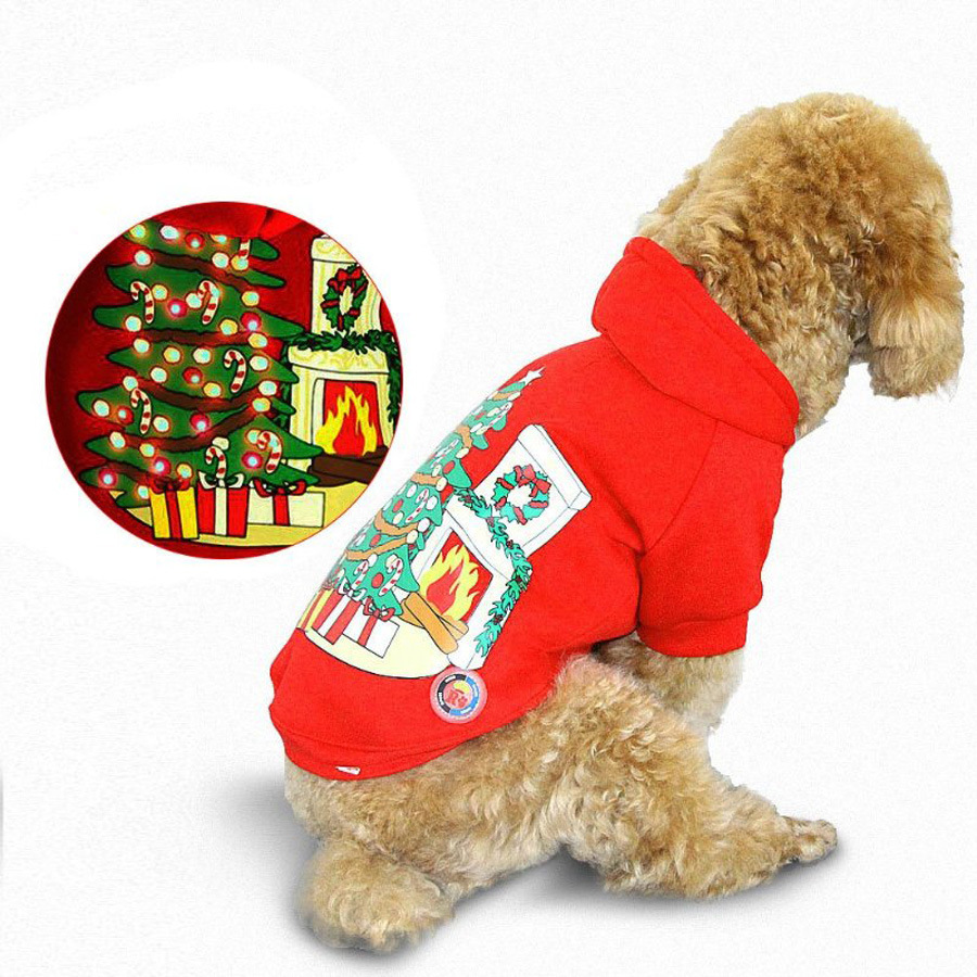 Winter knitting patterns dog clothes with led for Chritmas