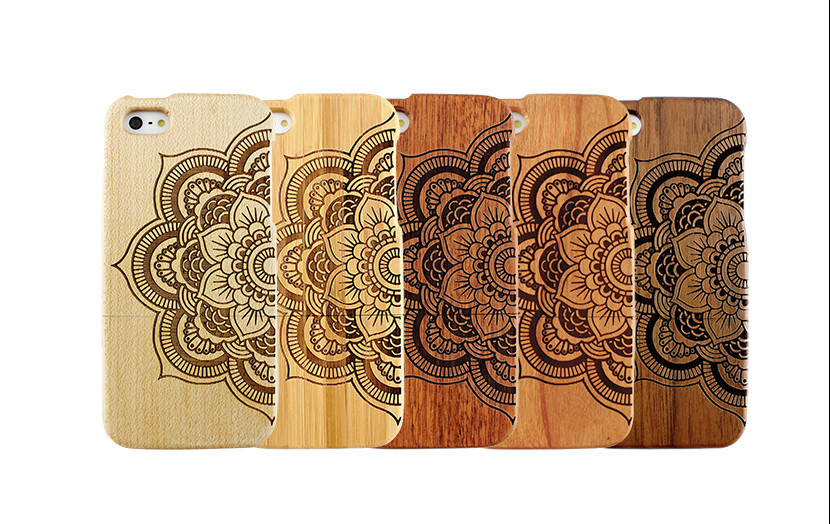 Trending Hot Products Wood Mandala Design Mobile Phone Shell for i Phone 6 Cover