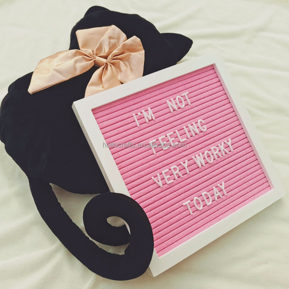 2018 NEW handicrafts painted frame pink felt letterboard letter board 10x10 home decoration
