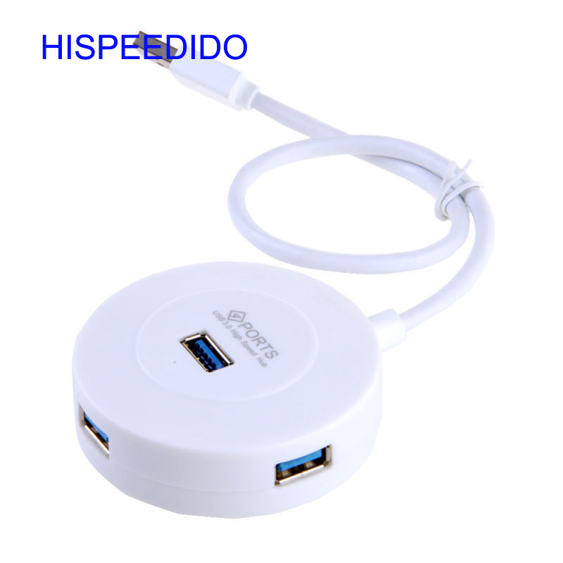 Super speed data charging round shape usb hub 3.0 desktop portable computer extension usb hub splitter gift or promotional