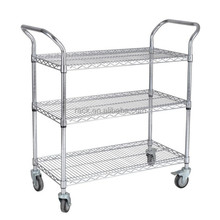 Hot Sale 3 Layers Decorative Trolley Cart , NSF Approval