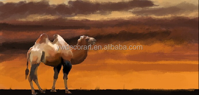 High Quality camel oil painting on canvas Animal Oil Painting