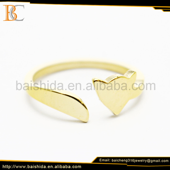 latest gold ring designs for girls European style custome jewelry with no stone