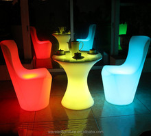LED bar table home furniture waterproof glowing illuminated remote control bar led chair