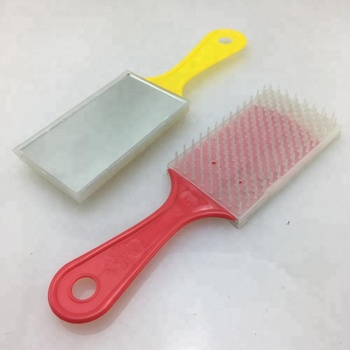 BEAUTY GENERAL PLASTIC COMB BRUSH WITH MIRROR SET