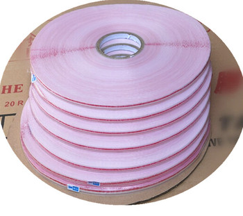 Transparent resealable bag sealing tape for flexible packaging