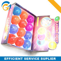 High Quality Promotional Toy Flashing Bouncy Ball