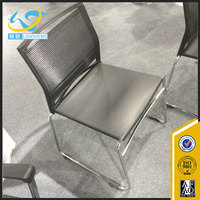 Metal leg stackable plastic stackable conference chair training chair