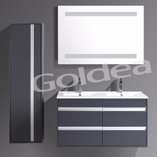 Lcquer bathroom vanity cabinet plumbing materials made in China