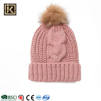 JAKIJAYI high quality custom design welcomed ladies winter knitted hat
