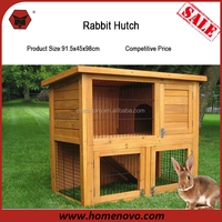 Low Price High Quality Customized Two Layers Wooden Outdoor Rabbit Hutch For Sale