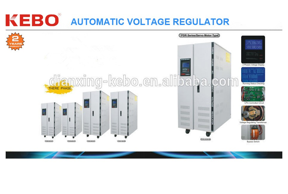 Stabilizer PDR-(10000VA-30000VA), Servo Motor Type, Three Phase, LCD Display