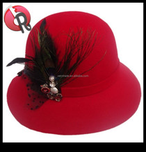 Elegant Fashion Cloche Lady Women's Wool Felt Dress Hat
