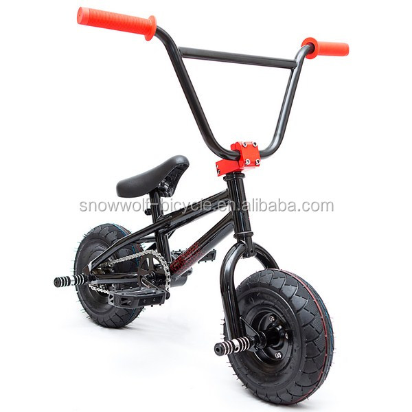 new bike 2016 price free sample 10' mini rocker street BMX/ freestyle dirt jump stunt half pipe bike