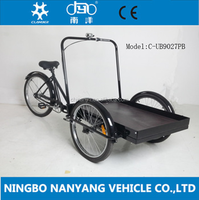 High quality cheap 3 wheel 26 inch single speed cargo bike/tricycle for cargo goods UB9027PB