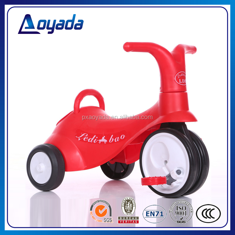 Hot sale plastic kids tricycle 3 wheeler pedal car with foldable pedals for children's best gifts from factory