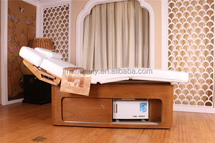 Bottom price classical wood electric dry water massage bed