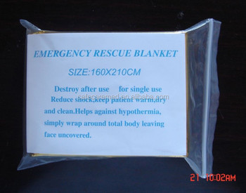 Silver and Golden Thermal Rescue Emergency Blanket