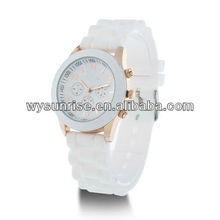 white oem silicone mk watch for promotional gift