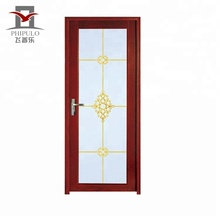 2018 china aluminum bathroom door swing single main door design cheap price