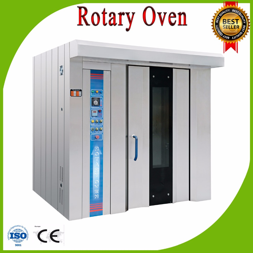 32 trays electric bread baking rotary oven with trollery and trays