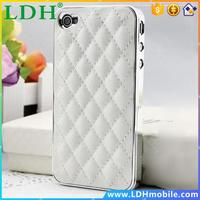 Luxury PU Leather Retro Elegant Soft Grid Skin Case for iphone 4 4S 4G / 5 5S 5G Hard Back Cover Phone Bag Affordable On Sale !