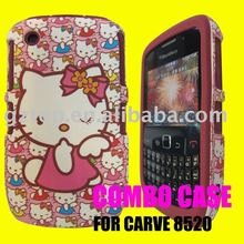 COMBO MOBILE PHONE CASE FOR BLACK BERRY 8520(MESH COMBO DESIGN)