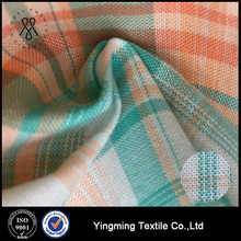 prestained plaid stripe yarn-dyed shirting cotton fabric