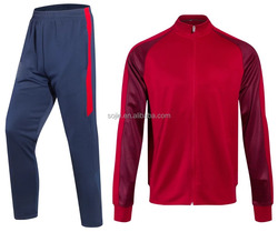 new design cheap top red custom soccer jacket soccer pants