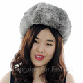 CX-C-26A High Quality Russian Rabbit Fur Winter Beanie Hats Caps