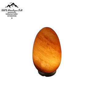 Wholesaler Custom made High quality Certified Dimmable Light Wooden Base Orange Pure Himalayan Salt Lamp for decoration