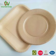 gas plate cooking disposable kraft paperplate