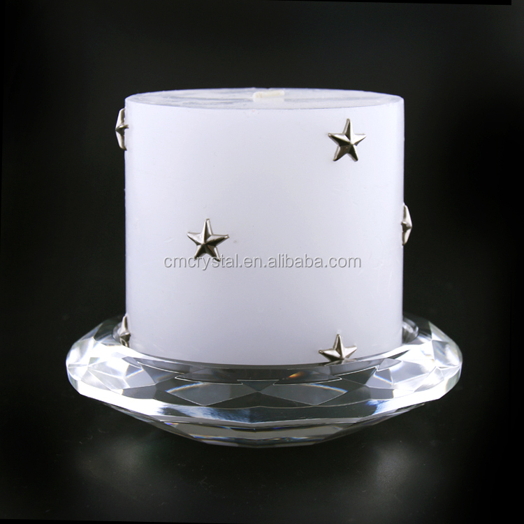 China most popular glass manufacturer supply crystal candlestick holder