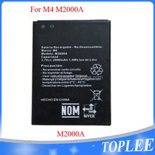 China made mobile phone batteries for M4 SS4040/SS4045 Battery Accu Akku 3.7V 2000mAh capacity lithium lon battery