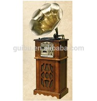 Retro Turntable Player Decoration Gramophone with CD SD USB Cassette and AM FM Radio RP-027