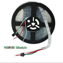 Hot sale ws2812b rgb led strip 30leds/m 10pixels/m 5m/roll SMD5050 led digital strip
