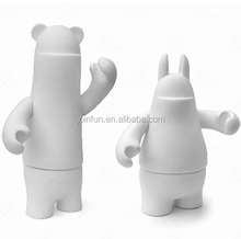 Custom make collectible blank vinyl toy figures,custom diy white plastic vinyl blank figure toys