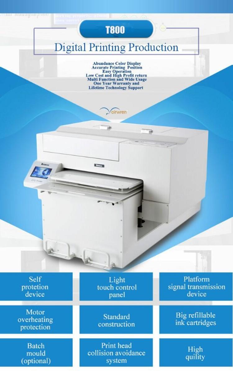 Wide format dtg printer digital textile printer garment t for T shirt printing machines prices
