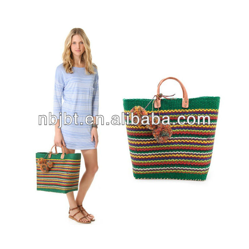 cheap straw beach bags