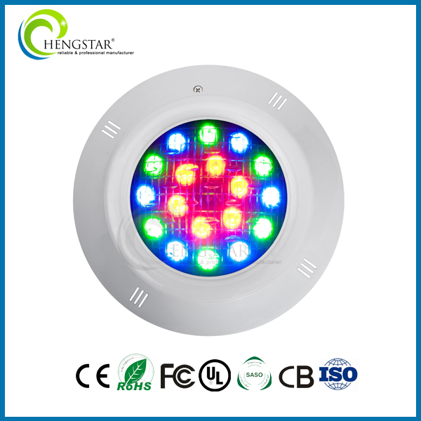 custom printed 12V swimming pool waterproof IP68 PAR56 submersible 20W LED underwater light
