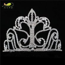 Wholesale Custom Tiara Crystal Hairpieces Rhinestone Crown