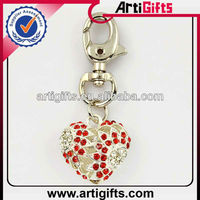 Promotional cheap metal heart shape key chain