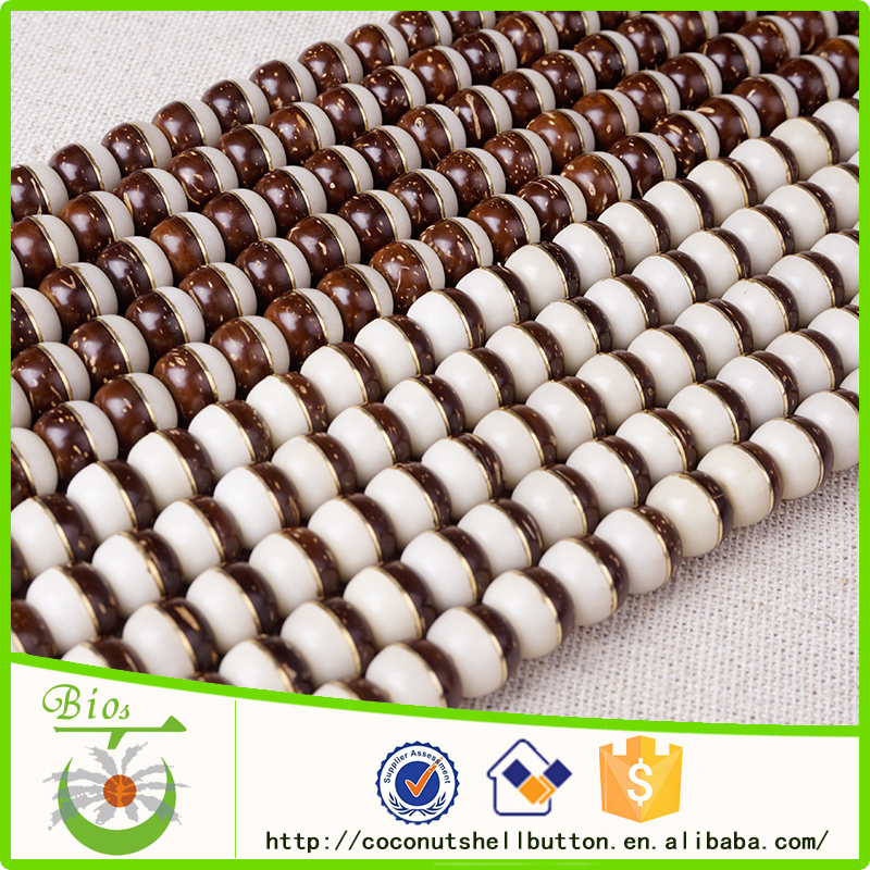 Natural coconut corozo taiji tai chi beads jewelry supplies